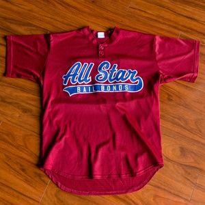 Vintage All Star Bail Bonds 83 Baseball Jersey